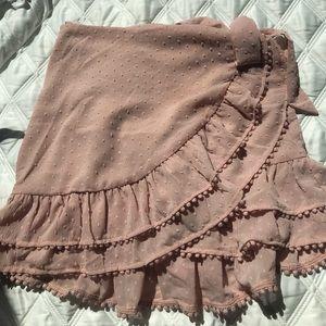 Light Pink Tobi Wrap Skirt